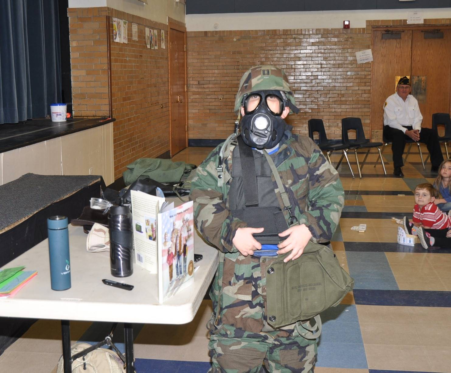 Student in Protective Gear