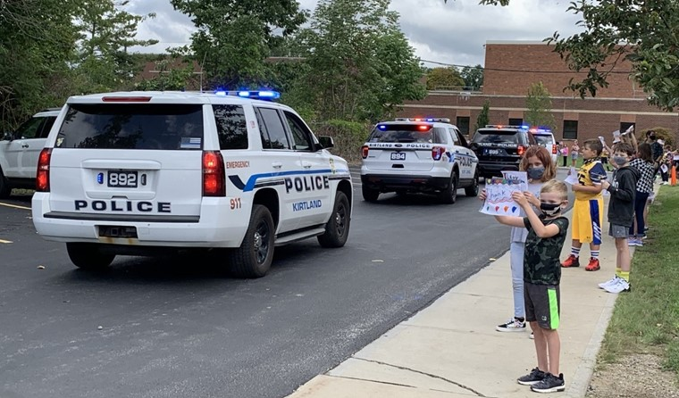 KES Student honor first responders.