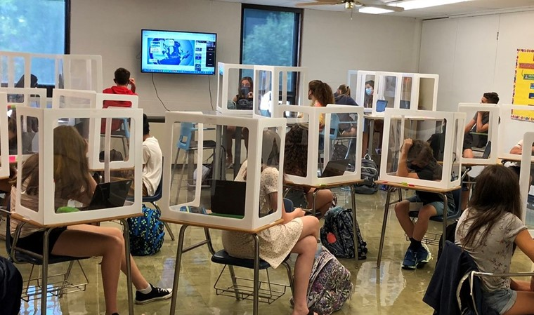 Students in class learning